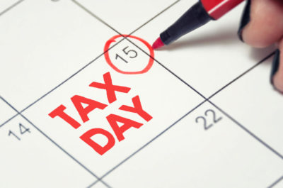 Spanish tax forms day calendar marker