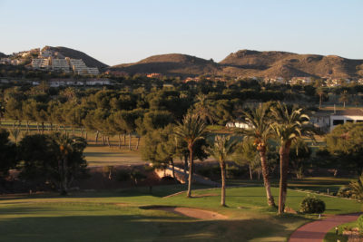 Murcia golf courses palm trees hills