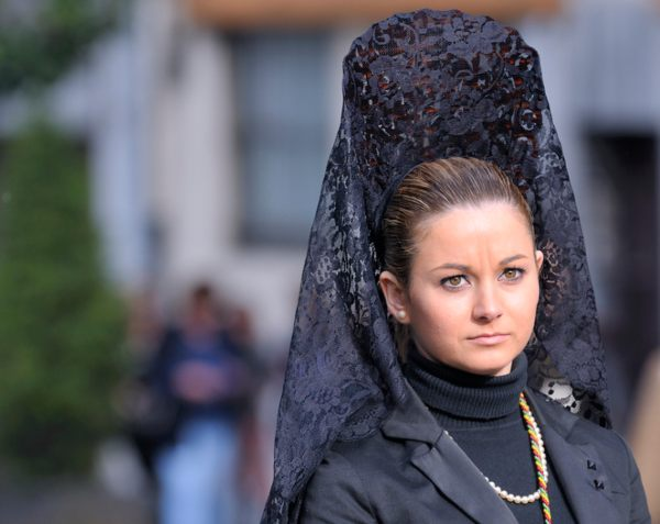 easter celebrations in spain - mantilla